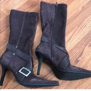 New Brown Guess Heeled Boot Size 8 1/2